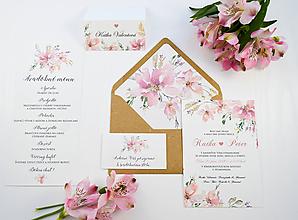 Papiernictvo - Svadobné oznámenie Elise 2 - 11069310_