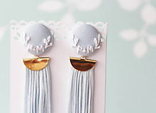 Náušnice - Svadobné náušnice s iniciálkami svadobčanov - 11069651_