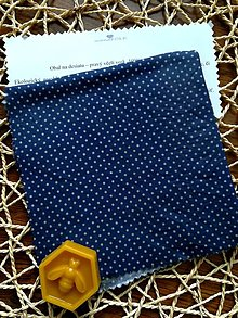 Úžitkový textil - Modré bodky - 11070274_