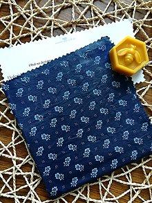 Úžitkový textil - Modré bodky (Modrotlač) - 11070330_