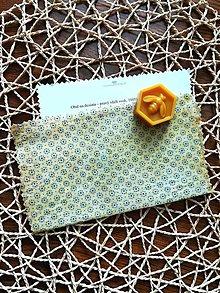 Úžitkový textil - Modré bodky (Béžová) - 11070345_