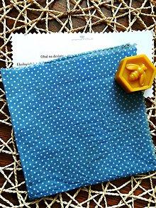 Úžitkový textil - Modré bodky (Svetlomodré) - 11070352_
