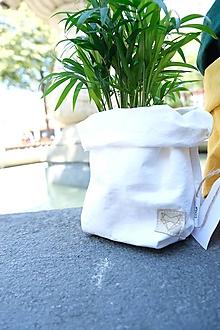 Košíky - Small home bag White - 11069956_