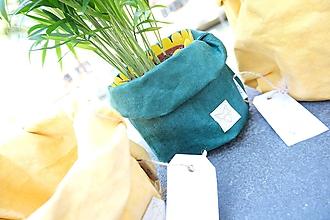 Košíky - Small home bag Green - 11069961_