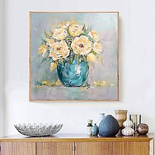Obrazy - Zátišie so žltými ružami - 11069630_