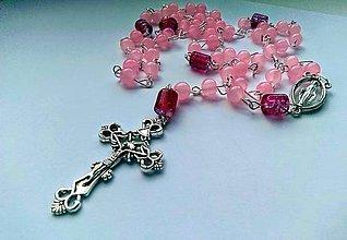 Iné šperky - Ruženec v ružovej farbe - 11069331_