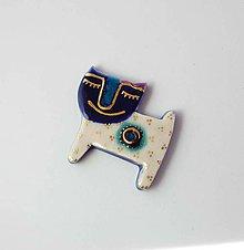 Odznaky/Brošne - Tana šperky - keramika/zlato - 11070562_
