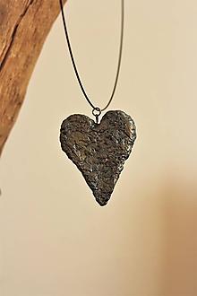 "Náhrdelníky - prívesok ""kamenné srdce"" - 11070630_"