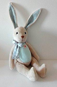 Hračky - Zajačik modrý - 11070626_