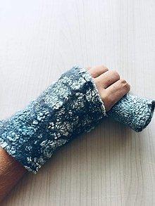 """Rukavice - Obojstranné plstené rukavičky- """"Silver dream"""" - 11069843_"""