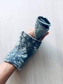 """Rukavice - Obojstranné plstené rukavičky- """"Silver dream"""" - 11069844_"""