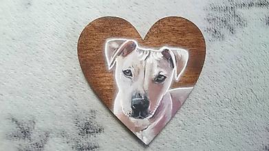 Kľúčenky - Kľúčenka maľovaná podľa fotografie psíka - 11070546_