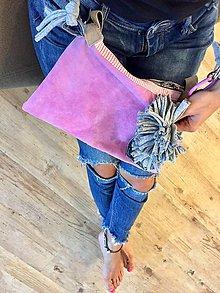 Kabelky - pravá koža Pink bag - 11070732_