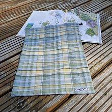 Úžitkový textil - Zero Waste Rôznostranné vrecúško (Kárované) - 11070271_
