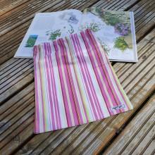 Úžitkový textil - Zero Waste Rôznostranné vrecúško (Pásiky) - 11070275_