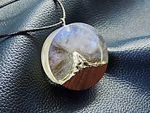 Náhrdelníky - Hviezdna obloha nad štítom- Drevený náhrdelník - 11070003_