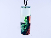 Náhrdelníky - Kapsula lesa- Drevený náhrdelník - 11070161_