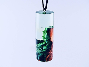 Náhrdelníky - Drevený náhrdelník - Kapsula lesa - 11070161_
