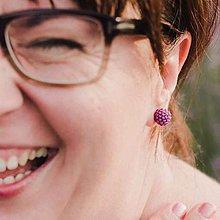 Náušnice - #bobuledousi fialové zapichovačky - 11069905_