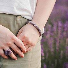Náramky - SNAKE fialový náramok - 11069930_