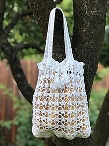 Nákupné tašky - háčkovaná šieťovka - menšia - 11071203_