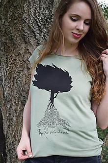 """Tričká - Svetlozelené tričko """"Tajomstvo Viktorovho sadu"""" - 11073564_"""