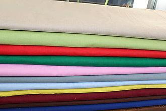 Iný materiál - Jebnofarebná bavlna - 11073376_