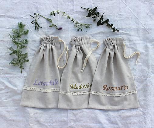 Vrecko na bylinky stredné
