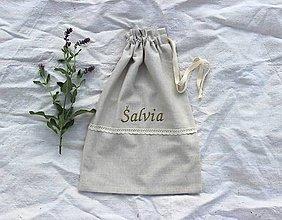 Úžitkový textil - Vrecká na bylinky mix (set 3ks) (Zelené písmo) - 11074273_