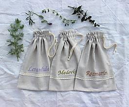 Úžitkový textil - Vrecká na bylinky stredné (set 3ks) - 11074327_