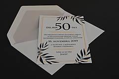 Papiernictvo - Pozvánka na oslavu jubilea pre muža (Variant 1) - 11073089_