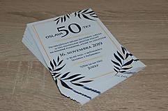 Papiernictvo - Pozvánka na oslavu jubilea pre muža (Variant 1) - 11073090_