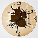 Hodiny - Drummer (Bubeník) - plywood clocks (nástenné hodiny z preglejky) - 11071823_