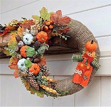 Dekorácie - Jesenný veniec na dvere - 11072429_