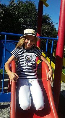 Tričká - Detské pásikavé tričko - OčiPuči  potápač ČumiZGumy - 11072996_
