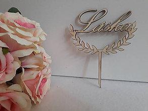 Dekorácie - Svadobný zápich na tortu  - láska - 11074190_