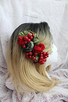 """Ozdoby do vlasov - Kvetinový hrebienok do vlasov """"lesná víla II."""" - 11073412_"""