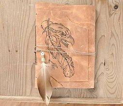 Papiernictvo - kožený zápisník EAGLE - 11073113_