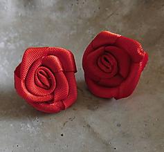 Náušnice - napichovacie ružičky - 11071647_