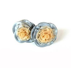 Náušnice - Strieborné kvety - 11072732_