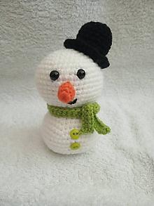 Hračky - Snehuliak v klobúku  (Zelená) - 11072009_