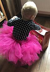 Detské oblečenie - Tmavoružová tutu suknička - 11073662_