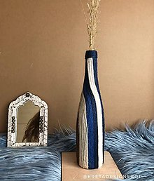 "Dekorácie - ""SWANULA"" recyklovaná váza - 11073898_"