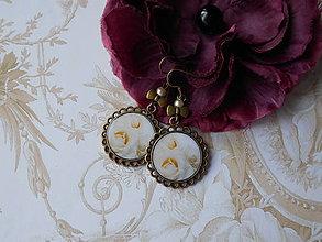 Náušnice - Svadobné ruže - 11073287_