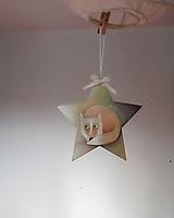 Dekorácie - Líštička na hviezde.. - 11071668_