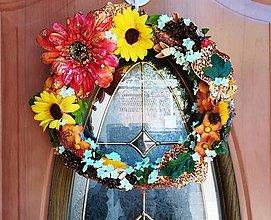Dekorácie - Jesenný veniec - 11074210_