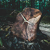 Hodiny - RAW - Akáciové drevené hodiny - 11073918_