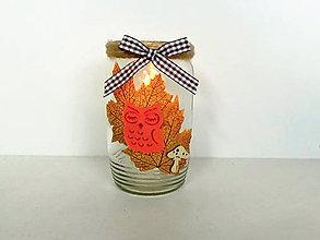 Svietidlá a sviečky - Jesenný svietnik - 11074027_