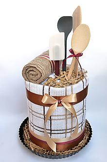 Úžitkový textil - Osušková torta - kuchyňa - 11072370_