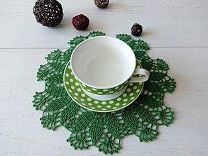 Úžitkový textil - Obrúsok - dečka /zelená/ - 11071893_